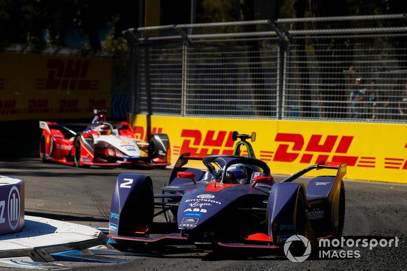 Sam Bird, Envision Virgin Racing, Audi e-tron FE05 Pascal Wehrlein, Mahindra Racing, M5 Electro