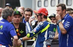 Valentino Rossi, Yamaha Factory Racing en parc ferme