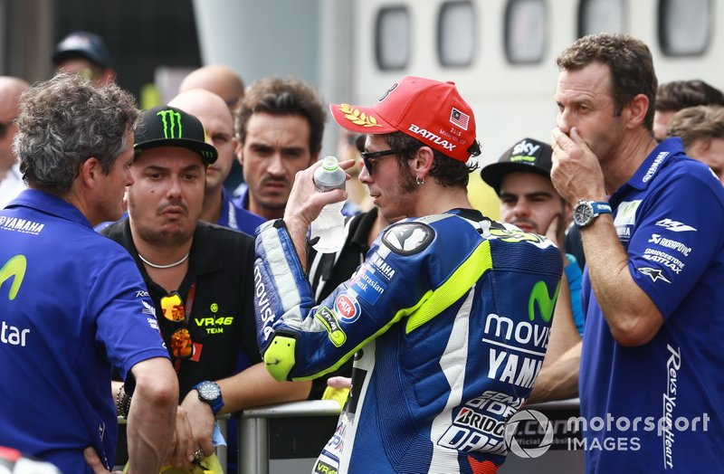 Valentino Rossi, Yamaha Factory Racing en parc ferme