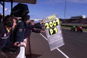 Tablero de boxes para Valentino Rossi, Honda