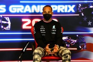 Lewis Hamilton, Mercedes in the drivers press conference