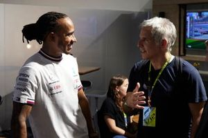 Lewis Hamilton, Mercedes, con el actor Ben Stiller