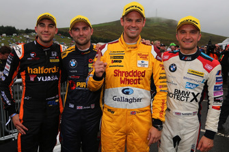 Dan Cammish, Team Dynamics Honda Civic, Andrew Jordan, WSR BMW, Tom Chilton, Motorbase Performance Ford Focus and Colin Turkington, WSR BMW