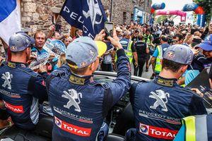 Timmy Hansen, Team Peugeot Total, Kevin Hansen, Team Peugeot Total, Sébastien Loeb, Team Peugeot Total