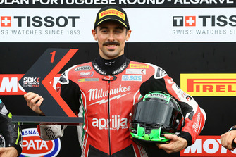 Polesitter Eugene Laverty, Milwaukee Aprilia