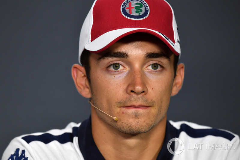 Charles Leclerc, Sauber in the Press Conference