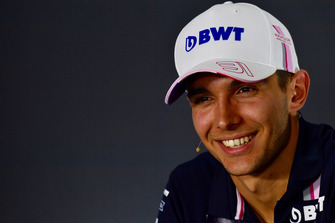 Esteban Ocon, Racing Point Force India F1 Team in the Press Conference