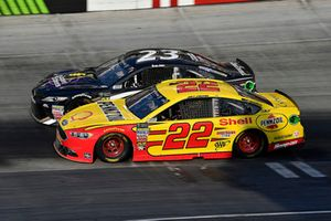 Joey Logano, Team Penske, Ford Fusion Shell Pennzoil and Blake Jones, BK Racing, Toyota Camry Tennessee XXX Moonshine