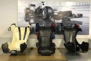 Il sedile di Kimi Raikkonen in allestimento nella factory Sauber