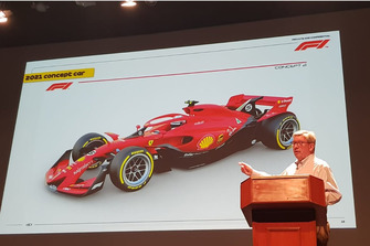Ross Brawn with the 2021 F1 concept story