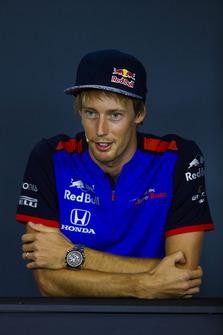 Brendon Hartley, Toro Rosso, en conférence de presse