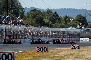 Matheus Leist, A.J. Foyt Enterprises Chevrolet, Santino Ferrucci, Dale Coyne Racing Honda, Charlie Kimball, Carlin Chevrolet