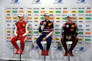 Press Conference, Mick Schumacher, PREMA Theodore Racing Dallara F317 - Mercedes-Benz, Robert Shwartzman, PREMA Theodore Racing Dallara F317 - Mercedes-Benz, Jonathan Aberdein, Motopark Dallara F317 - Volkswagen