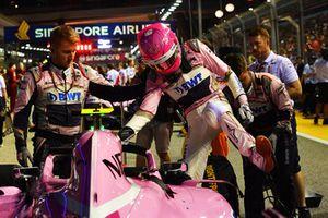 Esteban Ocon, Racing Point Force India VJM11 sur la grille