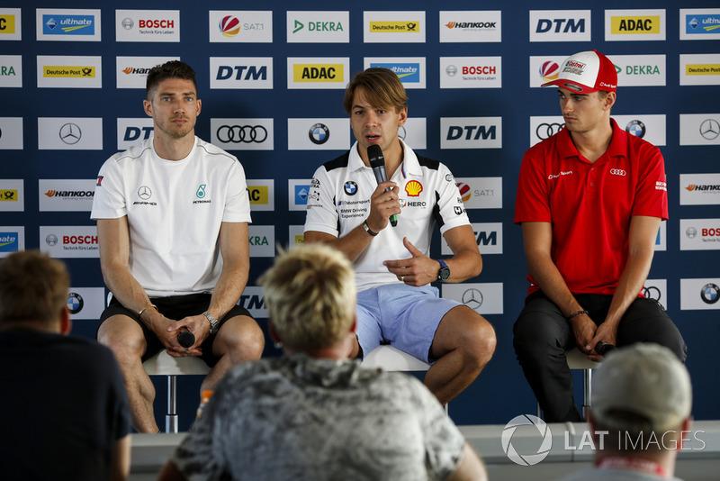 Edoardo Mortara, Mercedes-AMG Team HWA, Augusto Farfus, BMW Team RMG and Nico Müller, Audi Sport Team Abt Sportsline
