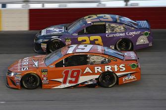 Daniel Suarez, Joe Gibbs Racing, Toyota Camry ARRIS Joey Gase, BK Racing, Toyota Camry Sparks Energy