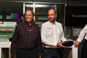 Le journaliste Frederick Peterson, au F1 Hall of Fame