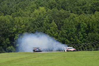 #911 Porsche Team North America Porsche 911 RSR, GTLM - Patrick Pilet, Nick Tandy, rottura del motore, #24 BMW Team RLL BMW M8 GTLM - John Edwards, Jesse Krohn