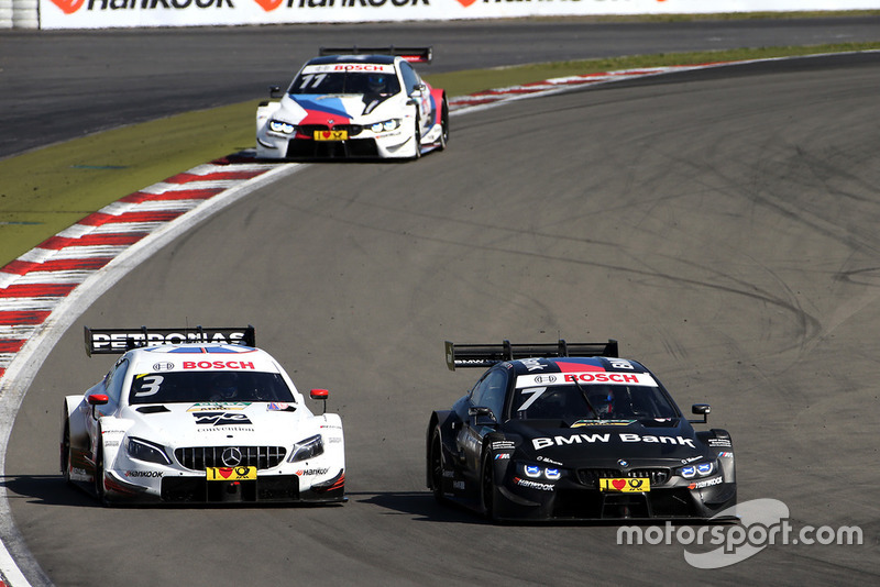 Paul Di Resta, Mercedes-AMG Team HWA, Mercedes-AMG C63 DTM, Bruno Spengler, BMW Team RBM, BMW M4 DTM