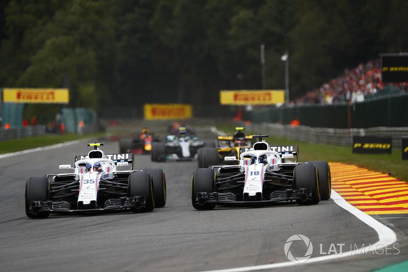 Sergey Sirotkin, Williams FW41,y Lance Stroll, Williams FW41