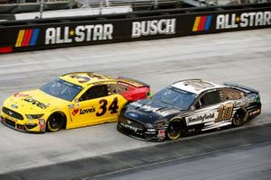 Michael McDowell, Front Row Motorsports, Ford Mustang Love's Travel Stops and Aric Almirola, Stewart-Haas Racing, Ford Mustang Smithfield