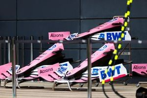 Nose cones and front wings of the Racing Point RP20