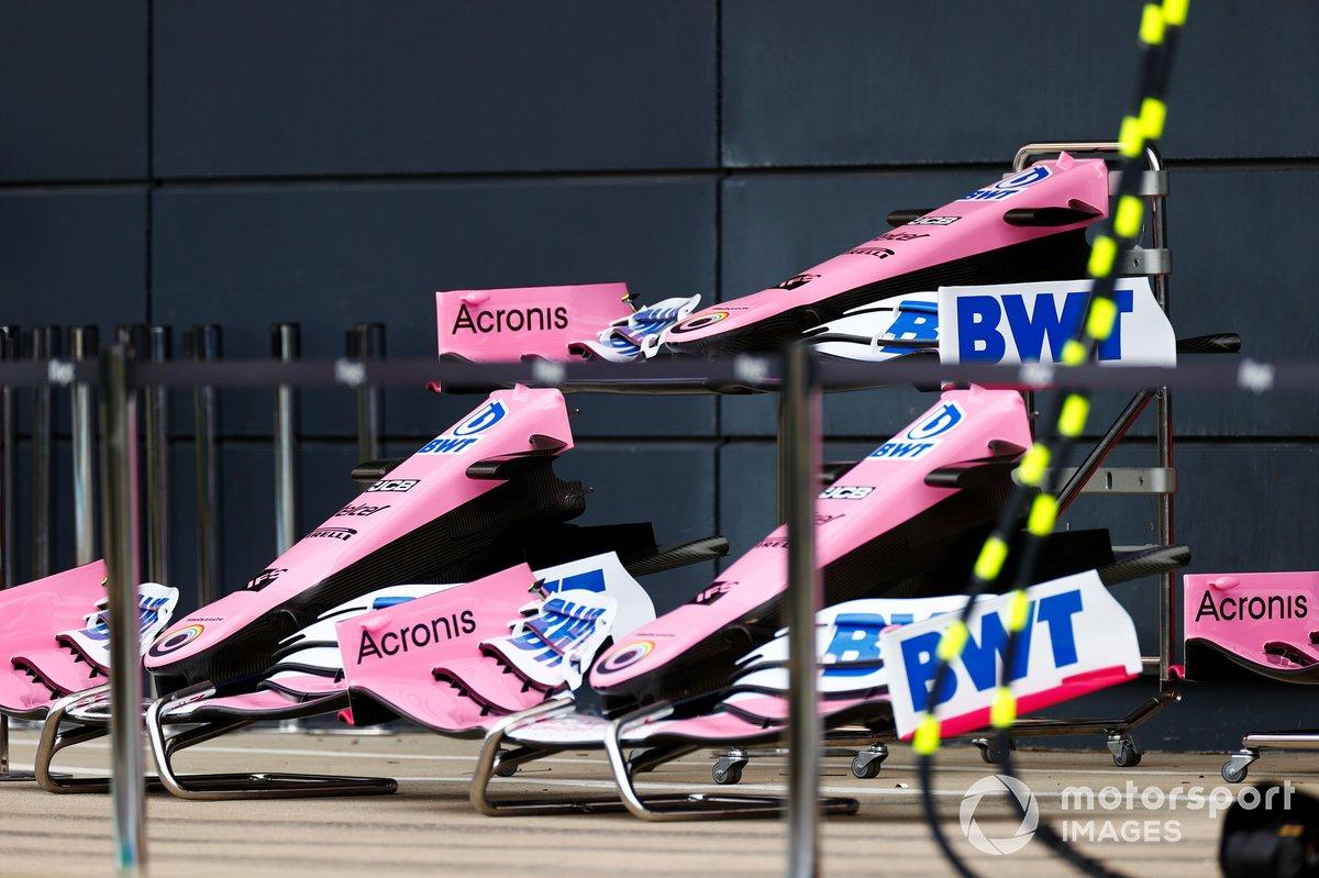 Los conos de la nariz y las alas delanteras del Racing Point RP20