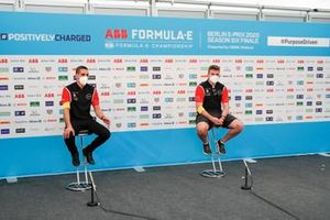 Sébastien Buemi, Nissan e.Dams, Oliver Rowland, Nissan e.Dams in the press conference