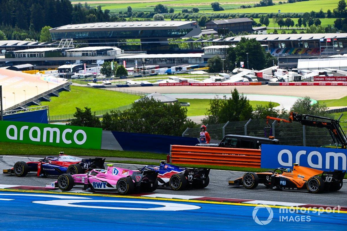 Marino Sato, Trident, Giuliano Alesi, HWA Racelab, Pedro Piquet, Charouz Racing System y Guilherme Samaia, Campos Racing