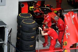 Les préparatifs chez Ferrari