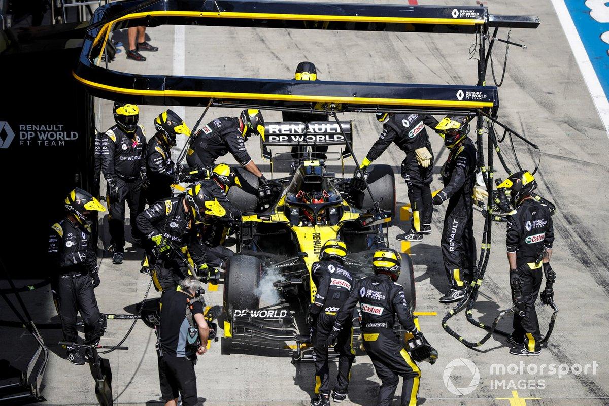 Esteban Ocon, Renault F1 Team R.S.20 si ritira dalla gara