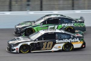 Aric Almirola, Stewart-Haas Racing, Smithfield Hometown Original Ford Mustang, Joey Gase, Petty Ware Racing, Page Construction Ford Mustang