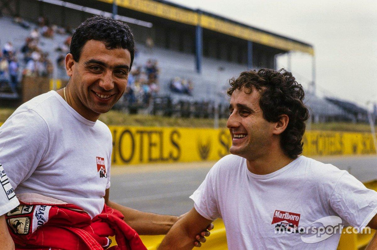 Michele Alboreto, Ferrari, Alain Prost, McLaren