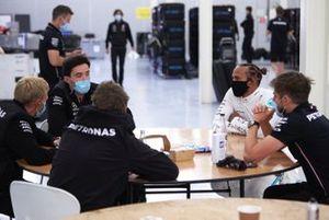 Льюис Хэмилтон на тестах команды Mercedes в Сильверстоуне