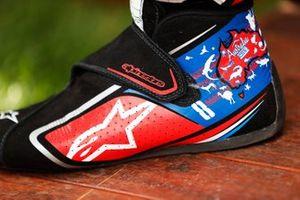 The boots of Romain Grosjean, Haas F1 Team