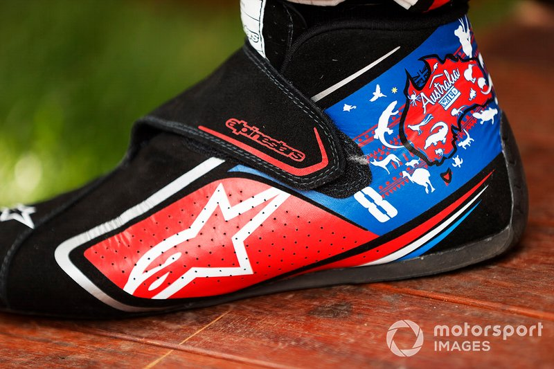The boots of Romain Grosjean, Haas F1 Team