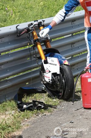 Le crash d'Enea Bastianini, Italtrans Racing Team