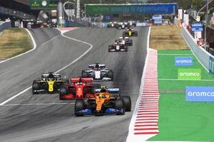 Lando Norris, McLaren MCL35, Sebastian Vettel, Ferrari SF1000, Daniel Ricciardo, Renault F1 Team R.S.20, Daniil Kvyat, AlphaTauri AT01