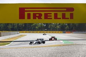 Pierre Gasly, AlphaTauri AT01, leads Charles Leclerc, Ferrari SF1000