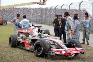 The car of Lewis Hamilton, McLaren Mercedes MP4/22