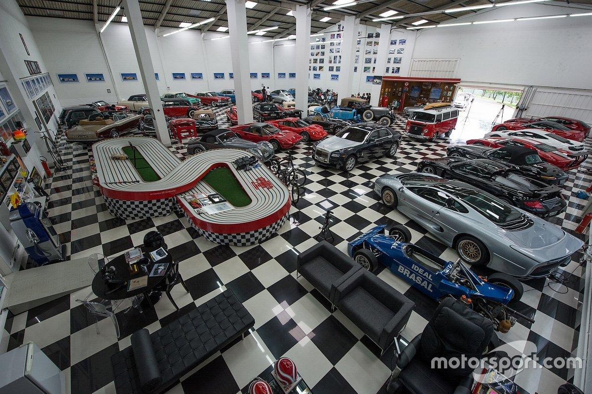 Garagem vista de cima