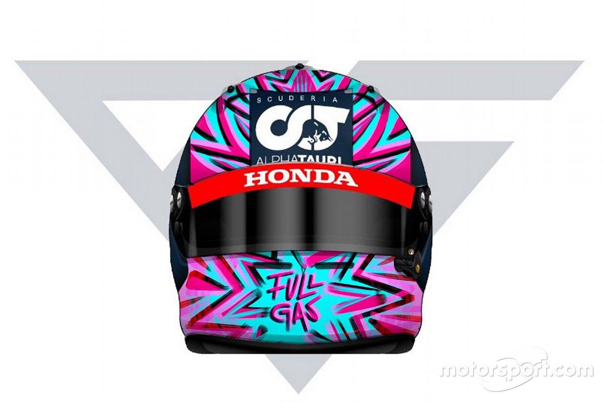 Il nuovo casco di Pierre Gasly