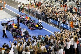 Sebastian Vettel, Red Bull Racing RB9 Renault, Mark Webber, Red Bull Racing RB9 Renault
