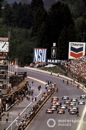 Start zum GP Belgien 1970 in Spa