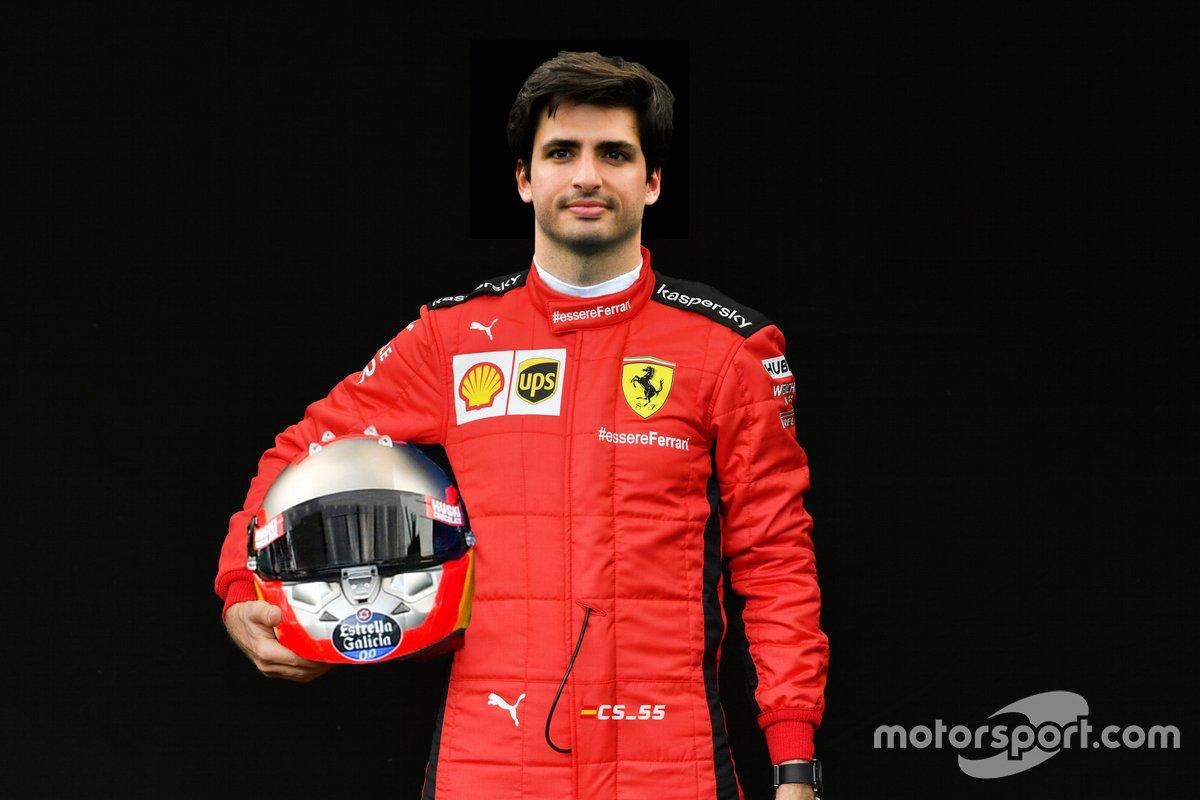 Carlos Sainz será piloto Ferrari en 2021 (montaje)