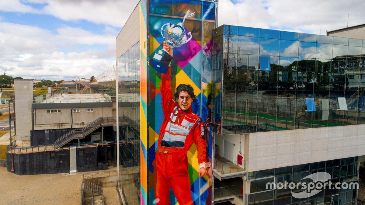 Mural de Kobra em homenagem a Senna é lançado virtualmente no aniversário de 80 anos de Interlagos