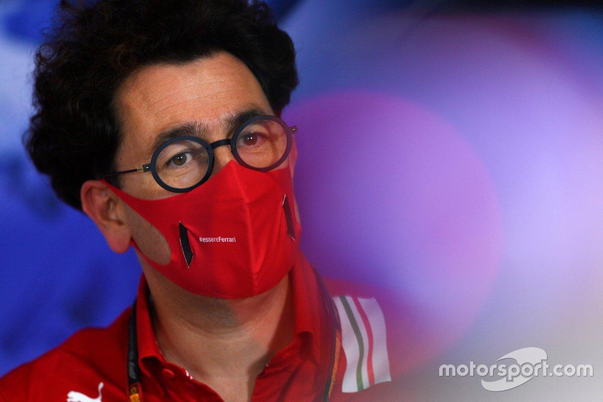 Mattia Binotto, Team Principal Ferrari, alla conferenza stampa dei team principal