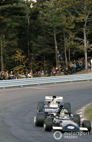 Henri Pescarolo, March 721 Ford leads Sam Posey, Surtees TS9B Ford
