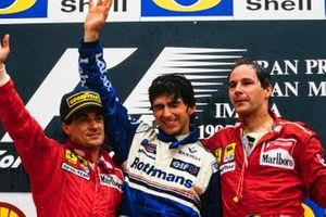 Jean Alesi, Ferrari, Damon Hill, Williams, Gerhard Berger, Ferrari