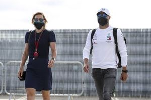 Tiffany Cromwell and Valtteri Bottas, Mercedes-AMG F1